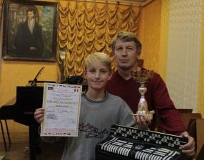 Дамінік і Чэслаў ЖЫХІ з узнагародамі